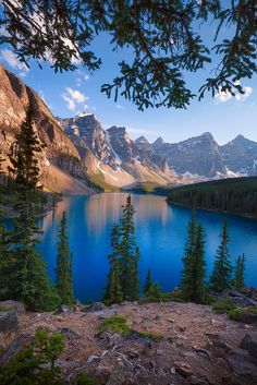 Moraine lake by Ajay Thomas ~ Moraine Lake, Banff National Park Alberta**