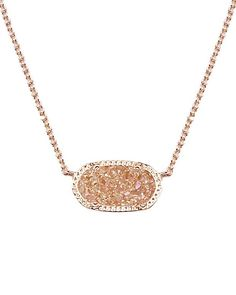 Elisa Pendant Necklace in Champagne Drusy - Kendra Scott Jewelry