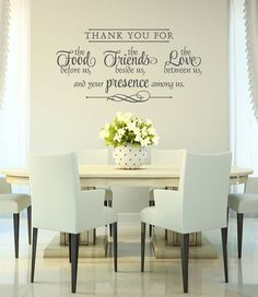 Religious Kitchen Bible Quote Removable Vinyl Wall Decals 10 5
