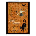 Halloween Ghost Dances Scary Moon Card #halloween #happyhalloween #halloweenparty #halloweenmakeup #halloweencostume