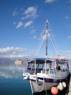'Agni', one of the 4 taxi-boats regularly making the short round-trip to #Bourtzi Fortress in #Nafplio, #Greece
