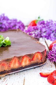 Brownie jahodovo čokoládové kocky