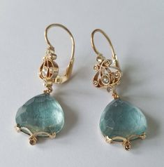Dalben Aquamarine Diamond Gold earrings image 2