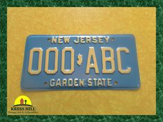 New Jersey Garden State Sample License Plate by KressHillVintage, $30.00