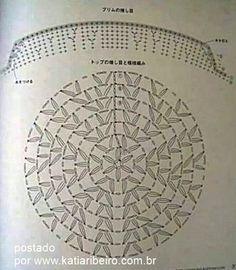 gráfico gorro croche com aba