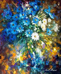 Bouquet of Happiness oil painting by Afremov by Leonidafremov on DeviantArt