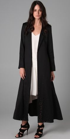 Elizabeth and James Long Duster Coat. Love the shoes too Long Duster Coat 5f17fde90