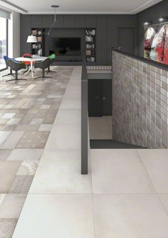 Vives Morthier  natural 10x20cm , Ornano natural and Massena Bianco 60x60cm tile off white beige and patterned tiles