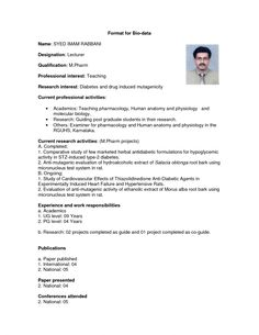 Image Result For Simple Biodata Format For Job Fresher  English