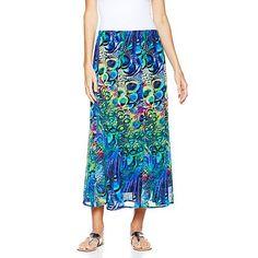 Antthony Timeless Classic Printed Chiffon Long Skirt