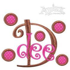Circle Polka Dots Embroidery Designs