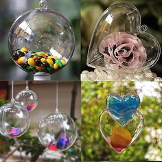 #Clear #plastic craft ball acrylic #transparent sphere bauble,christmas baubles, View more on the LINK: http://www.zeppy.io/product/gb/2/222271484515/