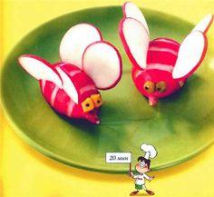 Would look so cute as a garnish on a Summer veggie tray!! Cute! Cute! Cute!