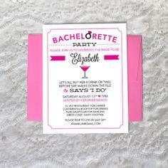 Bachelorette Invite  Flat Printed Invite  by CreativeUnionDesign, $1.25