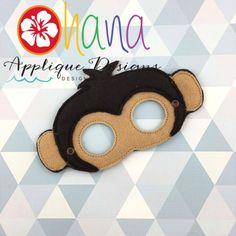 Masks Archives - Page 3 of 12 - Ohana Applique Designs Jungle Theme Classroom, Classroom Themes, Monkey Mask, Felt Mask, Pirate Theme, Wedding Quotes, Sleep Mask, Funny Design, Applique Designs