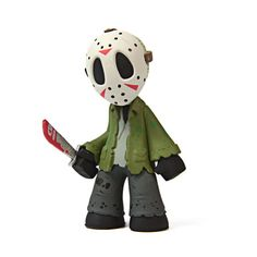 Horror Classics Mystery Mini Series : Jason Voorhees - The Horror genre gets a stylized makeover! This Horror Collection Mystery Minis Vinyl Mini-Figure Display Box features some of the most iconic characters from the Horror genre of movies. Each stylized figure measures 2 1/2-inches tall. This awesome case has all of your favorites, including Billy (Saw), Sam (Trick 'R Treat), Chucky (Child's Play), Ghostface (Scream), Michael Myers (Halloween), Freddy Krueger (A Nightmare on Elm Street)…