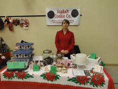 My booth at the Scugog Christian School Craft sale