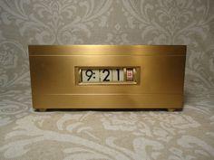 Retro 1960's Brass Digital Clock