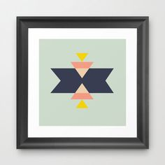 Celebrate the art of indigenous tribes of the American southwest with this bright, geometric giclée print. Printed on archival paper, it's sure to be a bright and cheerful spot on your wall.  Find the Motif Art Print, as seen in the Santa Fe Style Collection at http://dotandbo.com/collections/get-this-look-santa-fe-style?utm_source=pinterest&utm_medium=organic&db_sku=89399