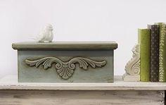 Antiqued Wooden Storage Box -- Create an heirloom from a flea market find. #chalkyfinish