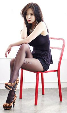 Asian women in high heels