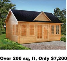 Small modular cottages cottage w log siding cottage w for Mother in law shed