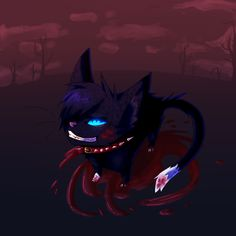 aaaand idk why but I wanted to draw Scourge :I so here xD Scourge/Warrior Cats(c) Erin Hunter Art(c) Me scourge Warrior Cats Scourge, Warrior Cats Art, Warriors Erin Hunter, Love Warriors, Creepy Cat, Rainy Night, Dog Teeth, Feral Cats, Dark Forest