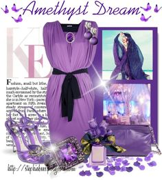 """""""Amethyst Dream"""" by stephiebees on Polyvore"""