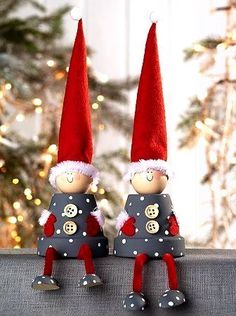 Blumento - Quilling Deco Home Trends Easy Christmas Crafts, Christmas Gnome, Christmas Wood, Christmas Decorations, Christmas Ornaments, Holiday Decor, Christmas 2014, Scandinavian Christmas, Merry Christmas