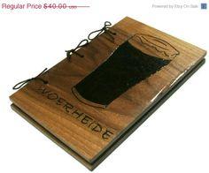#PFTpin2win CIJ SALE Beer Book Journal  Brew Log by BillsWoodenPleasures, $36.00
