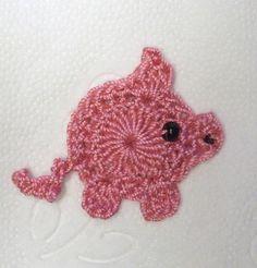 Silvester, Glücks-Schwein ,rosa, gehäkelt,Handarbeit.   good luck pig for new years.   no pattern, just an ebay listing