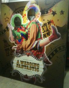 A digitally printed photo board for a carnival inspired wedding www.mustardsolutions.co.uk