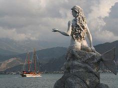 Mermaid statue in Turkey