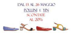 Buongiorno! Da oggi al 26 maggio nel nostro sito ( http://www.mengotti-online.com/ ) le collezioni p/e 2014 POLLINI e YIN in PROMO AL 20%!!!!  Mengotti Group