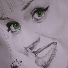 Retrato Katy Perry #art #portrait #pencildrawing #sketching #illustration #arte #retrato #dibujo www.facebook.com/antonio.ayala.castejon.oficial #sexy #eyes #katyperry