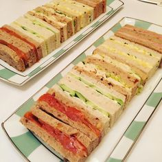 Perfect afternoon tea sandwiches at Claridges