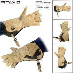 Mens Quality Double Layer Soft Genuine Cowhide Leather Falconry Gloves//Bird Handling Gloves//Pet Gloves. X Large