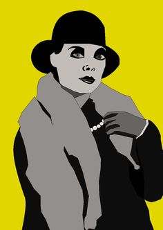 Lady with Fur Coat. Twenties.