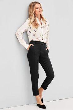 Black Workwear Taper Trousers