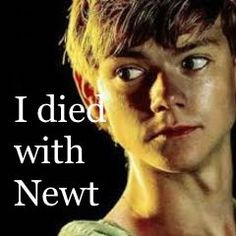Newt the maze runner. I WANT HIM BACK