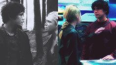 """Clarke Griffin and Bellamy Blake, CW's 'The 100', Bellarke, The Head and The Heart, """"We've been through a lot together, you and I. I didn't like you at first; that's no secret. But even then, every stupid thing you did, it was to protect your sister. She didn't always see that, but I did. You've got such a big heart, Bellamy. People follow you. You inspire them because of this [your heart]. But the only way to make sure we survive is if you use this [your head], too."""" """"I've got you for…"""