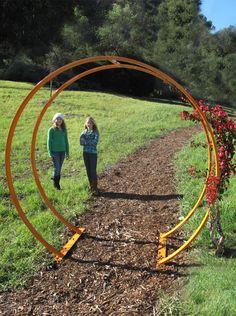 Grange Freestanding Flower Wooden Circle Arch Outdoor