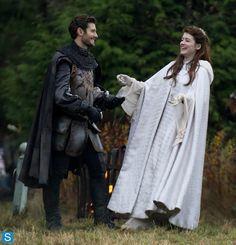 On set with the prince and princess