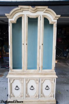 Painting a China Hutch with Annie Sloan Chalk Paint! | Designed Decor