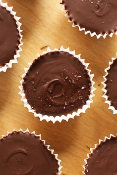 Bourbon Sea Salt Caramel Almond Butter Cups! minimalistbaker.com