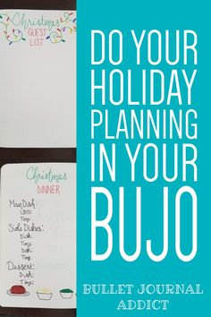 Bullet Journal Ideas and Spreads For Holiday Planning - Bullet Journal Holiday Planning Guide - How To Plan For The Holidays In Your Bullet Journal Bullet Journal Index, Bullet Journal Christmas, Bullet Journal Quotes, Bullet Journal Tracker, Bullet Journal Layout, Bullet Journal Inspiration, Journal Pages, Journal Ideas, Holiday Stress