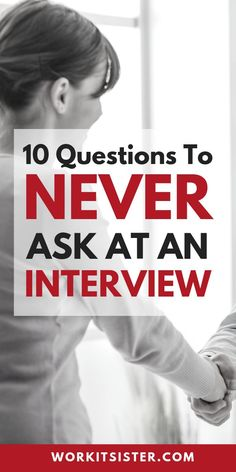 10 Questions to NEVER ask at a job interview. When employers ask if you have any questions. These 10 questions are things you should never mention at an interview. Interview Questions To Ask, Job Interview Preparation, Interview Answers, Job Interview Tips, Job Interviews, Interview Techniques, Job Interview Hairstyles, Resume Writer, Job Resume