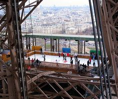 Ice skating rink on the top of the Eiffel Tower!