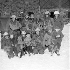 American troops with Belgian children Battle of the Bulge the final major German offensive of WWII