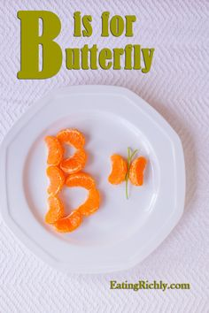 Healthy Kid Snack Tangerine Butterfly | Eating richly even when you're broke